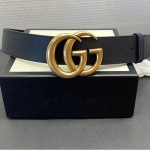 gucci double G classic black belt 90cm
